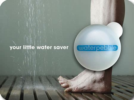 Water Reducing Shower by Waterpebble Saves Water By Reducing Your Shower Time