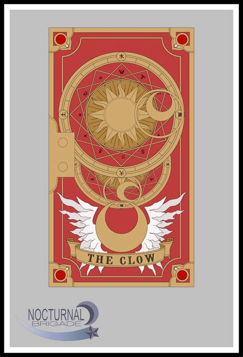 Clow Card Template by Clow Back Cover Colour By Bennybrutt On Deviantart