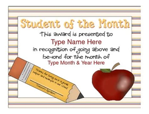 30 new teacher of the month certificate template at office manual