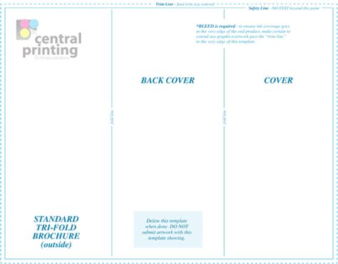 illustrator tri fold and business card template brochure templates central printing