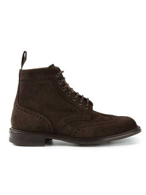 brogue boots for church s caldecott brogue boots in brown for lyst