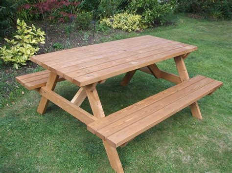 outdoor picnic bench picnic table heavy duty commercial grade ebay