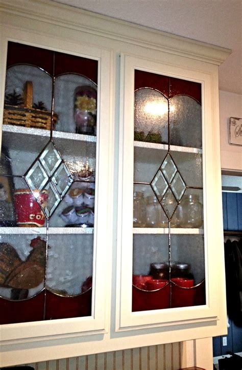 Glass Inserts For Kitchen Cabinets by Stained Glass Kitchen Cabinet Inserts