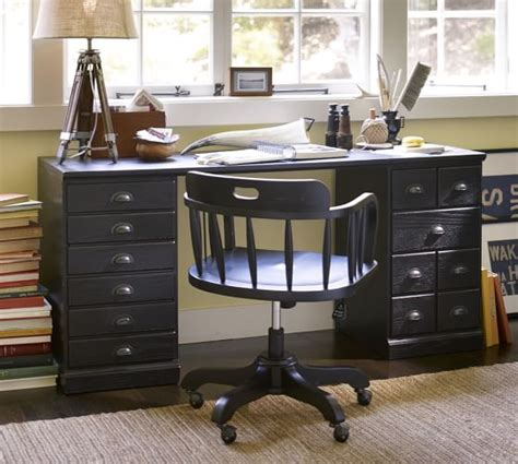 printer s writing desk small printer s rectangular desk set pottery barn