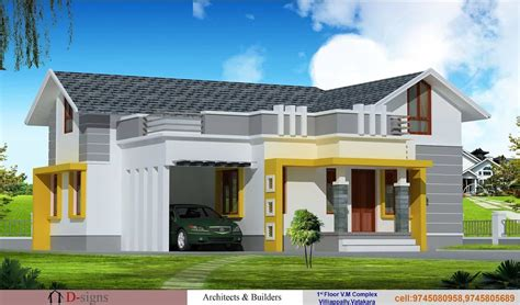single story house elevation single floor kerala house elevation at 1200 sq ft