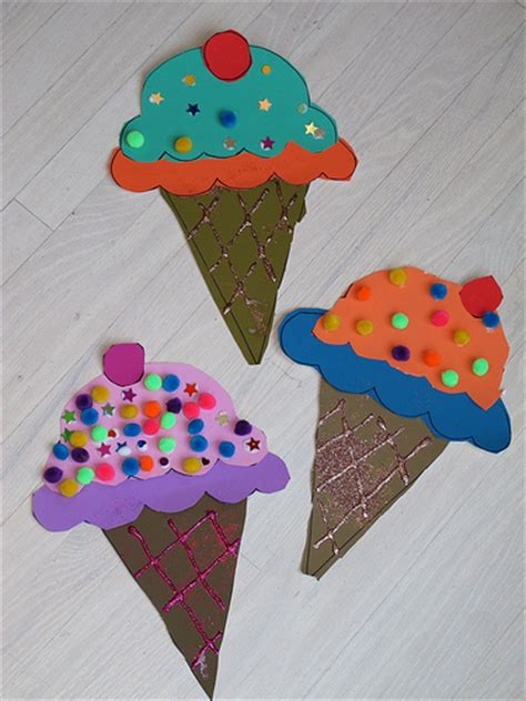 Cone Paper Craft - paper cones family crafts