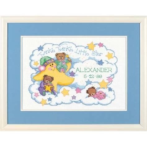 Dimensions Needlecrafts Counted Cross Stitch Baby Express Birth Record Dimensions Needlecrafts Counted Cross Stitch Birth Record For Baby 11street