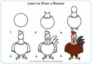 learn to draw a rooster