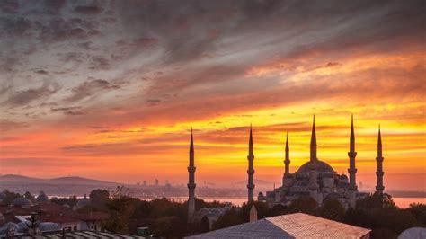 Full HD Wallpaper hagia sophia, istanbul, turkey, sunset