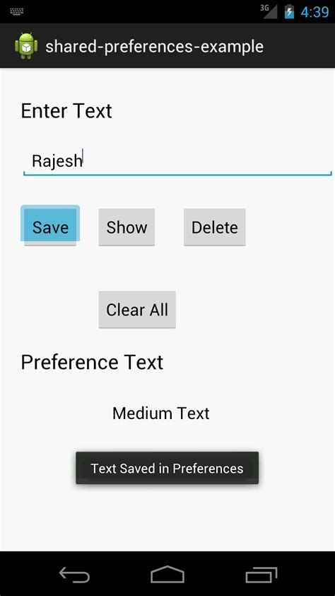 shared preference android android practices shared preferences exle in android