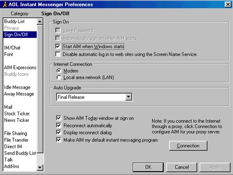 Handcrafted Software - i2020 setting up aol instant messenger knowledge base