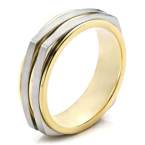 Two Tone Wedding Bands by S Two Tone Wedding Band 100153
