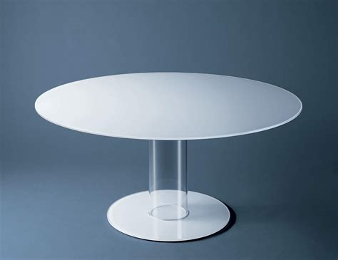 Modern White Glass Dining Table Glas Italia Hub Alti Contemporary Italian Dining Table In White Glass