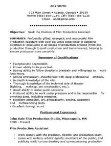 free production assistant resume template sle