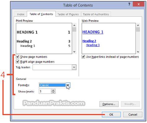membuat daftar isi table of contents di word 2007 cara membuat banyak daftar isi multiple table of contents