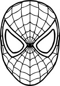 spiderman mask coloring coloring pages