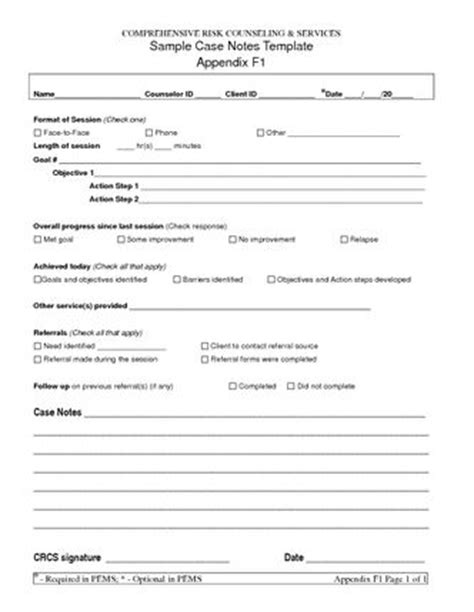 notes social work template free note templates sle notes template