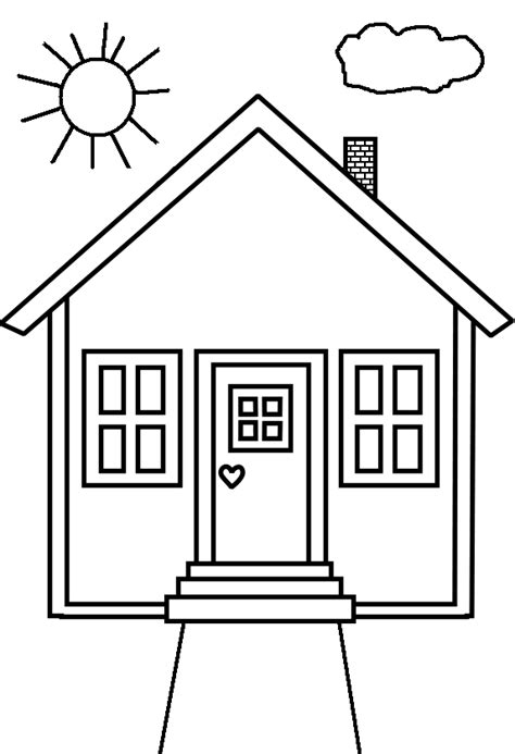 colour for home house coloring pages