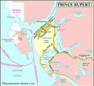 map of prince rupert northern bc columbia
