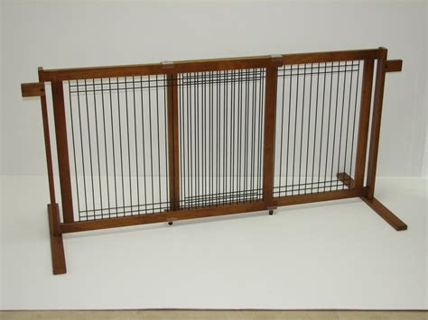 freestanding gate 29 4 quot wood wire span freestanding pet gate