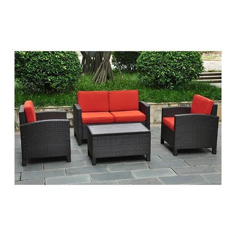 outdoor couch with storage international caravan barcelona 4 piece patio set with