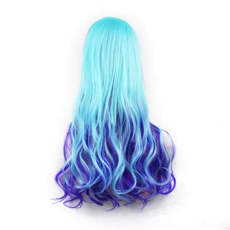 Wig 70 Cm Tsn 20802 70cm wig mixed color synthetic curly anime wig
