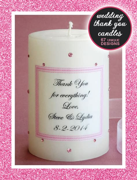 wedding thank you for gift bridesmaid candles and thank you candles for wedding gifts