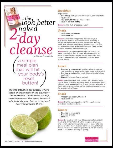 Detox 2 Days A Week by Look Better 2 Day Cleansing Meal Plan Detox And