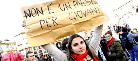 per giovani italia non 232 un paese per giovani