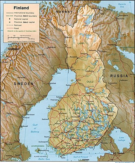 map of maps of finland map library maps of the world