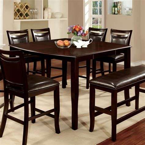 square counter height dining table furniture of america ridgeway square counter height dining