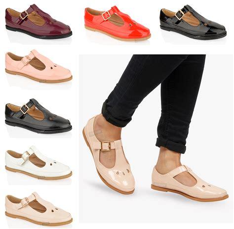 t shoes womens flat cut out t bar pumps