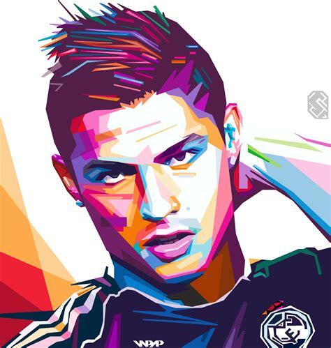 wallpaper keren portrait wpap christiano ronaldo cr7 by sendra ilham mand by