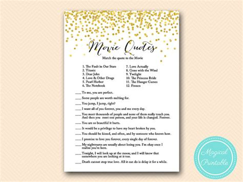 movie love quotes bridal shower game entertaining games movie quote game famous quotes bridal shower movie love