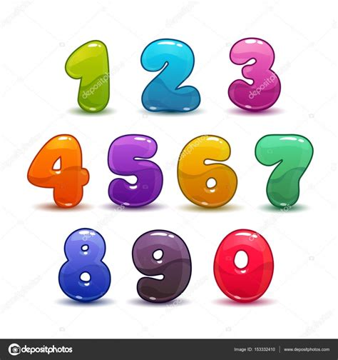 imagenes de numeros sin fondo divertidos colores n 250 meros en fondo blanco vector de
