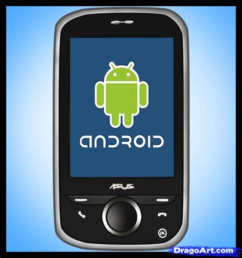 how to to android phone how to draw an android android phone step by step stuff pop culture free drawing