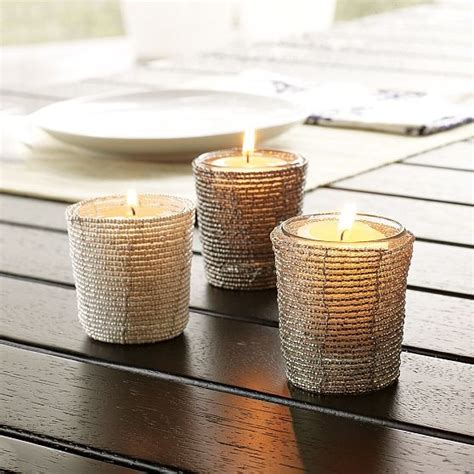 Beaded Votive Candle Holders New Beaded Votive Holders Modern By West Elm
