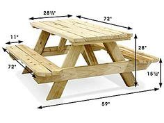 build  picnic table  attached benches diy