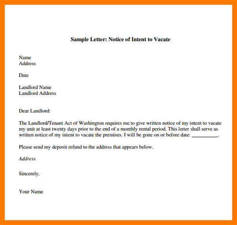 %name Template For 60 Day Notice To Vacate