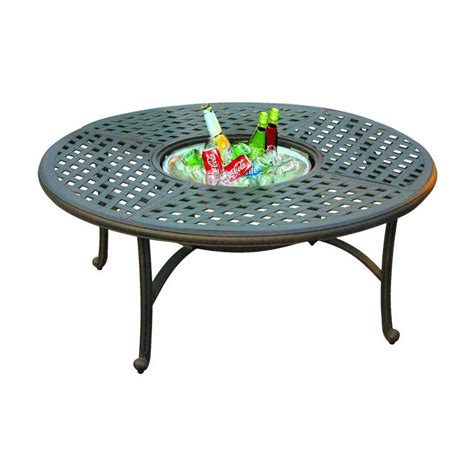 Metal Patio Coffee Table Shop Darlee Series 30 Aluminum Patio Coffee Table At Lowes