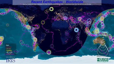 earthquake online iris the iris earthquake channel