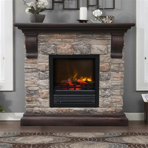 electric fireplace wall units fieldstone electric