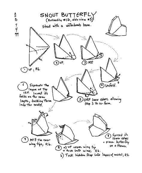 Origami Butterfly Diagram - barbour origami