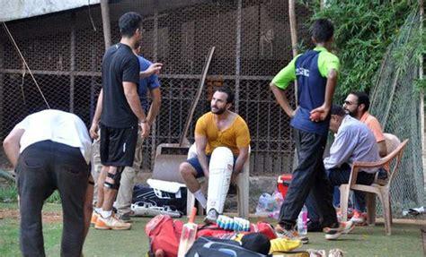 actor cricket game saif ali khan kunal kemmu and ibrahim team up for a game
