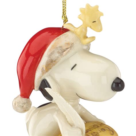 peanut s snoopy ornament list for santa lenox