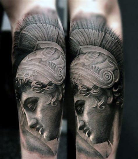 greek statue tattoo 60 statue designs for ink ideas