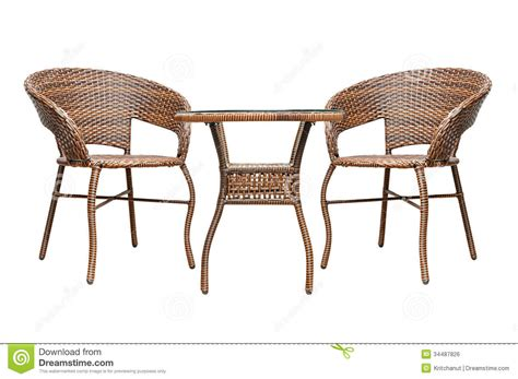 tea table and chairs rattan coffee table set royalty free stock image image