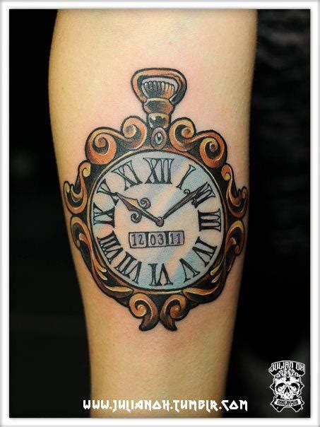 my clock tattoo for the birth of my son clock pocket