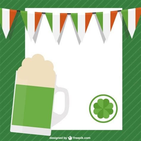 st template free st patricks day template vector free