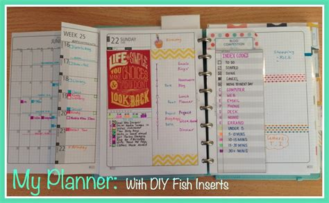 build a planner my planner pages diy fish inserts